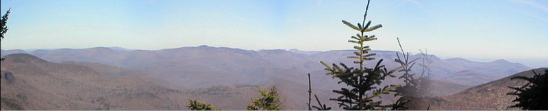 panorama from Slide Mountain