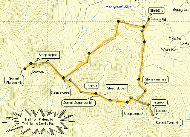 Catskill 35 peak map